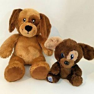 Build A Bear Brown Dog Puppy Eye Patch Plush Set